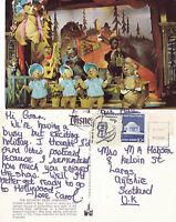 1980's COUNTRY BEAR JAMBOREE DISNEYLAND FLORIDA UNITED STATES COLOUR POSTCARD