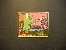 1936 G-MEN & HEROES OF THE LAW CARD #196 GUM INC.  *THE RAREST GROUP OF THE SET