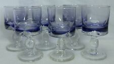 """UNKNOWN MFG Set of Six (6) PALE PURPLE BOWL Water Goblets @ 5-5/8"""""""