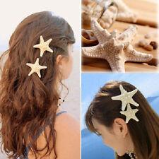 2pcs pinza Horquillas pelo estrella mar Tocado Clip de cabello hairclip Hairpin