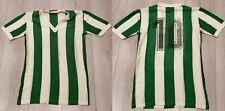 Vintage white green 1960ies 1970ies #10 football shirt size XS