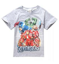 Tee-Shirt Manches Courte Garçon The Avengers Taille 110 4/5 Ans NEUF