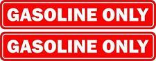 2x Adesivi adesivo sticker moto auto gasoline only carburante benzina gasolio