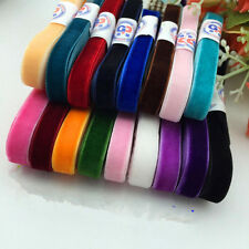 "5 Yards 3/8 "" Velvet Ribbon Headband Clips Bow Decoration DIY Manyt Colors"
