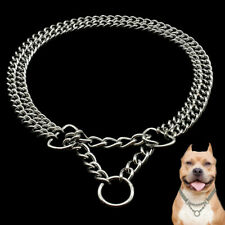 Chrome Martingale Collars for Dogs Training Show Chain Pet Choke Collar Silver
