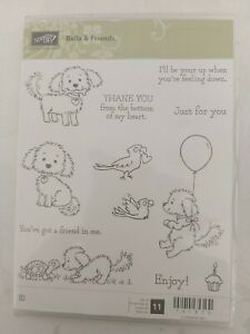 Stampin Up  'Bella and Friends' Rubber Stamp Set. Used once