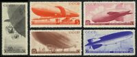 Russia #C53-57 Zeppelins Fault Free Mint Lightly Hinged