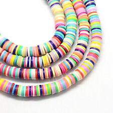 Clay Beads Flat Round 400 Beads 1 Strand - BD1322
