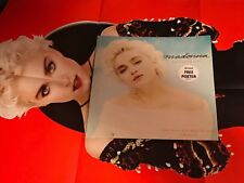 "MADONNA THE LOOK OF LOVE UK 12"" W /HUGE POSTER RARE 1987"