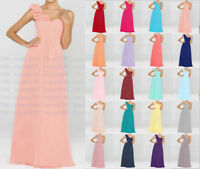 Long Chiffon Evening Formal Party Ball Gown Prom Bridesmaid Dress Size 6-18