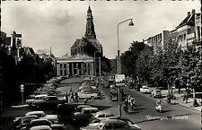 Groningen Niederlande AK ~1950/60 Vismarkt Auto Parkplatz Blick auf die Kirche