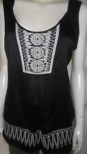 JEANSWEST Womens sleeveless Black top size 14