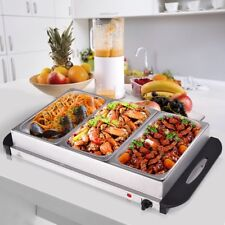 2.5 Quart 3 Tray Stainless Steel Buffet Server Food Warmer 149-7167℉ Easy to do
