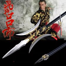 Flying general LvBu Dragon double halberd spear lance Stainless Steel blade#0076