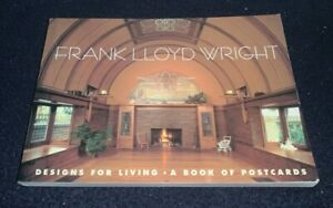 "Frank Lloyd Wright ""Designs for Living"" Postcard Book with 30 Oversized Cards"