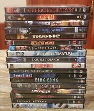 Action Movie Dvd Lot includes King Kong the Core Traffic Bourne After Earth +