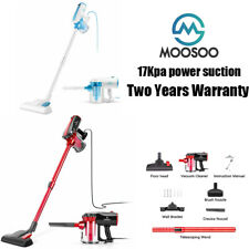 MOOSOO Vacuum Cleaner Corded 17KPa Handheld Suction Stick Vacuum 2 in 1 Vacuum