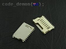 SD Memory Card Socket Replacement Length Pull Out SMD Camera / iPhone (x2)