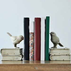 Birds Shelf School & Office Bookends Vintage Handmade Craft Bookends Holder JA