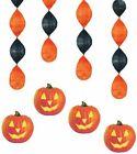 4 x citrouille brille 45.7cm pendant décorations Halloween décoration de fête