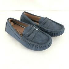 Earsoon Toddler Boys Loafers Slip On Faux Suede Dress Shoes Gray Size 24 US 8