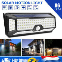 86LED Lampe Solaire Capteur de Mouvement PIR Jardin Extérieur Imperméable 6-8M