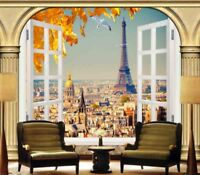 Tender Eiffel Tower 3D Full Wall Mural Photo Wallpaper Printing Home Kids Decor