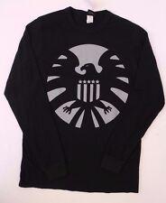 Marvel Captain America  Men's Large Long Sleeve Sweater/Shirt Black Size L NWT