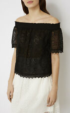 e9303a98a9055 Black lace off the shoulder top. Size 10. Worn once.