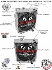 """2 Row 1"""" Western Champion Radiator, 16"""" Fan for 1964 65 1966 Ford Mustang V8 Eng"""