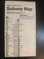 Vtg. 1979  NYC New York City Subway Map Pocket MTA  Guide NYCTA Brighton