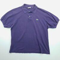 Lacoste Mens Vintage Polo Shirt 5 MEDIUM Short Sleeve Purple Regular Fit
