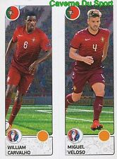 601 WILLIAM CARVALHO / MIGUEL VELOSO PORTUGAL STICKER EURO 2016 PANINI