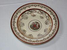"N 22 K Gold Trim La Petite China 1 soup / salad bowl 8 1/4"" Victorian Artwork~"