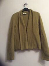 Laura Ashley Olive Lambswool Cardigan . Size 14. Clip Fastening. Long Sleeve.