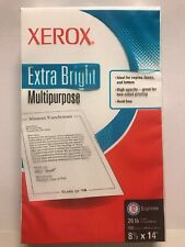 Xerox Extra Bright Multipurpose Paper, 20lb, 500 Sheets, 8.5x14, 92 Bright (NEW)