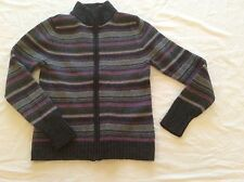 Frost lambswool women's full zipped cardigan size L made in UK
