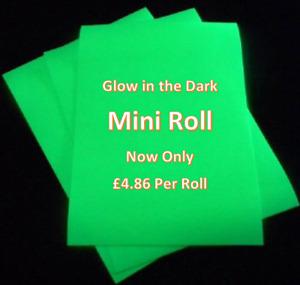 Mini Roll - Glow in the Dark HTV Vinyl IRON ON/HEAT PRESS