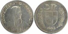 Pièces de monnaie suisses en argent