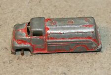 Vintage Metal Red Tootsie toy Fuel Oil TANKER Carrier Truck Antique