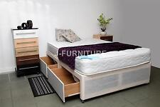 5ft King Size Divan Bed+Medium Firm 22cm Mattress+Four Drawers CLEARANCE SALE!!!