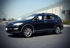 WellVisors For 07-15 Mazda CX-9 Black Trim Side Window Visors Deflectors