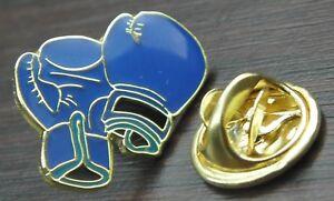 Blue Boxing Gloves Pin Badge Spar Sparring Glove Fighter Brooch