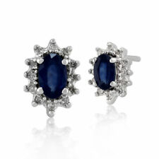 Blue Heating Stud Fine Earrings