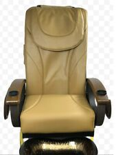 Pedicure Back Massage Seat Cover with Front Chin CAPPUCCINO COLOR