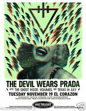 THE DEVIL WEARS PRADA / GHOST INSIDE /  VOLUMES 2013 SEATTLE CONCERT TOUR POSTER