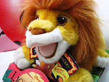 Authentic LION KING Roaring Simba Hand Puppet 1993 Stuffed Mattel Disney Vintage