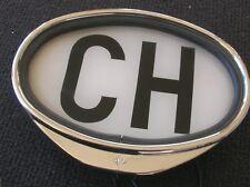 LIGHTED CH SWF LIGHT UP PLATE BADGE MB 190 300 SL VW SPLIT OVAL NOS