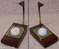 Clock, Pen & Holder Golfer's Tee Time table desk NEW