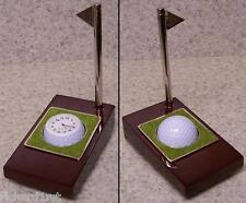 Clock, Pen & Holder Golfer's Tee Time table desk NIB